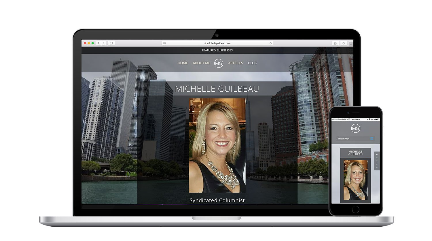 Michelle Guilbeau Responsive Website