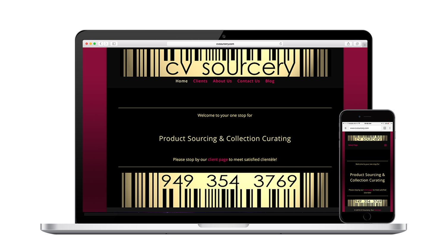 CV Sourcery Responsive Website