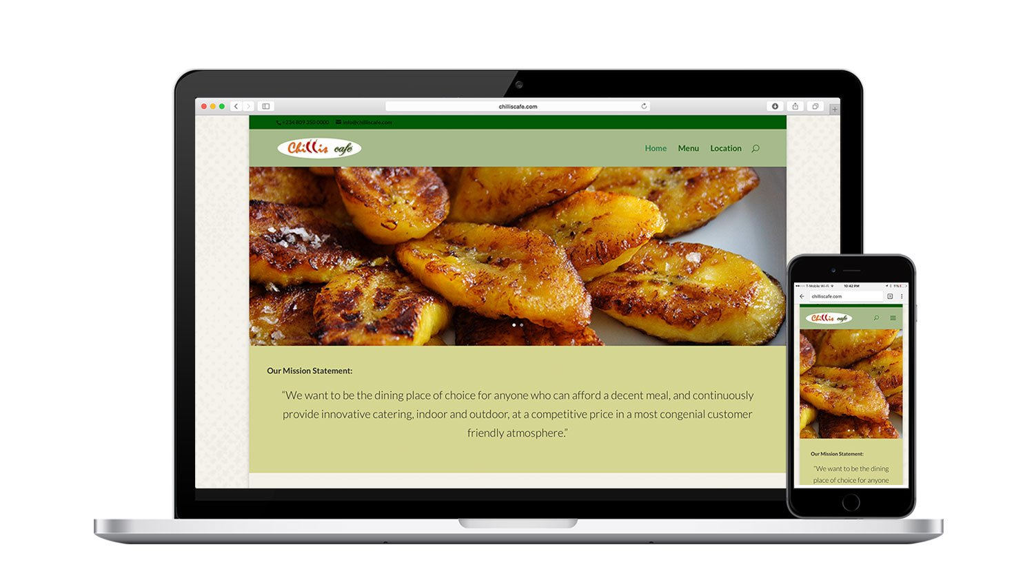 Chillis Cafe Responsive Website